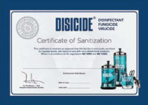 DISICIDE - Certification of Sanitization